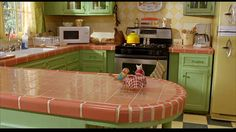 """""""Stuart Little:"""" A Small House with a Big Personality French Country Interiors, Stuart Little, Interior Wallpaper, Little Kitchen, Kitchen Dining, Dining Room, Little Houses, Cozy House, Home Kitchens"""