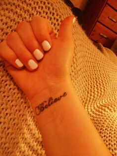 #my#tatto#believe