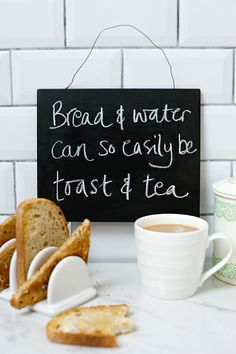 Bread and water can