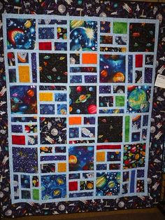 Outer space quilt by c_nilsen, via Flickr