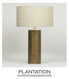 Finnerty Brass Table Lamp   PLANTATION