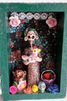 Day of the Dead Mexican folk art shrine
