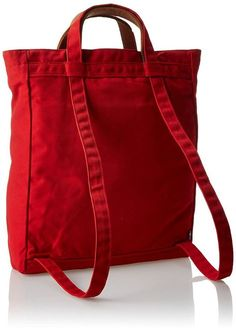 We Love A Convertible Backpack Purse for Travel : Fjallraven Totepack Red: Fjallraven: Sports & Outdoors Travel Purse, Backpack Purse, Travel Backpack, Travel Bags, Backpack Craft, Red Tote Bag, Backpack Pattern, Tote Pattern, Hobo Bag