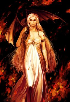 Daenerys Targaryen. How do fantasy heroines always make having long hair look like fun when in reality it is a huge hassle?