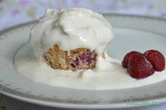 Cupcake de Framboesa com Calda de Lichia