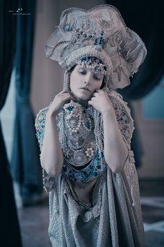 The magical world of headdresses....by AGNIESZKA OSIPA #snow queen