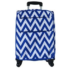 Ever Moda Fashion Print 18 Upright Carryon Chevron Royal Blue 6418CVDB -- This is an Amazon Affiliate link. You can find out more details at the link of the image.
