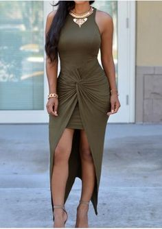 Bodycon Double-Layered Women's Maxi Dress Sexy Outfits, Sexy Dresses, Cute Dresses, Beautiful Dresses, Cute Outfits, Fashion Outfits, Womens Fashion, Fashion Usa, Ladies Dresses