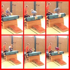 Roll on a raised surface - Turnen - Kids Gym, Kids Sports, Camping Games, Parkour, Physical Education, Activities For Kids, Coaching, Children, Sink Tops