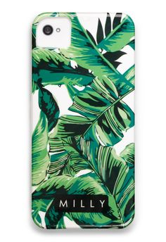 BANANA LEAF PRINT IPHONE 5 CASE. the fact that this doesnt come in a 4 breaks my heart