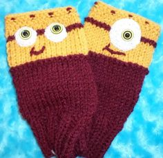 INSPIRED BY MINIONS TEENS & LADIES FINGERLESS GLOVES; TEAM COLORS, MAROON / GOLD in Clothing, Shoes & Accessories, Women's Accessories, Gloves & Mittens   eBay