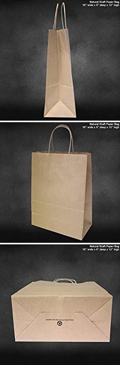 "SSWBasics Kraft Paper Shopping Bag - Large x x 12 ½""H) - Case of 100 Wholesale Bags, Women's Handbags, Paper Bags, Kraft Paper, Large Bags, Gift Bags, Paper Shopping Bag, Brown, Party"