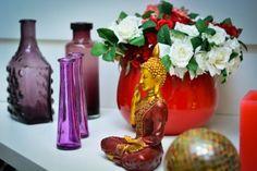 As cores do outono - Buda, lilas, bodacious, vermelho, dourada - Formosinha Decorações
