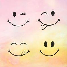 Cute Smiley Face, Smiley Emoji, Cartoon Smiley Face, Smiley Faces, Cute Cartoon Faces, Emoji Svg, Cute Faces, Face Doodles, Kawaii Doodles