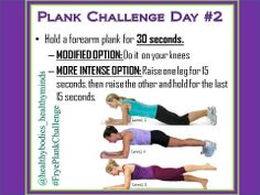 30-day plank challenge! Follow it on Pinterest, Instagram, or Facebook. Be sure to comment when you complete the daily challenge. www.Facebook.com/ChristinaFryeTeamBeachbodyCoach