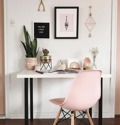 A pink office for the modern . A pink office for the modern . A pink office for the modern . A pink office for the modern . Home Office Design, Home Office Decor, Office Ideas, Office Furniture, Office Designs, Office Style, Bedroom Office, Office Inspo, Furniture Ideas