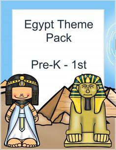 Egypt themed lesson pack for preschool through 1st grade. Egypt Lessons | Egypt Printables | Egypt Study Unit