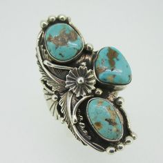American Antiques and Jewelry - Sterling Silver Turquoise Mark Yazzie Expandable Ring, $99.00 (http://www.aaandj.com/sterling-silver-turquoise-mark-yazzie-expandable-ring/)