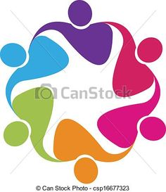 Vector - Teamwork in a hug logo vector - stock illustration, royalty free illustrations, stock clip art icon, stock clipart icons, logo, line art, EPS picture, pictures, graphic, graphics, drawing, drawings, vector image, artwork, EPS vector art