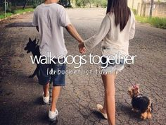 walk dogs together #bucketlist