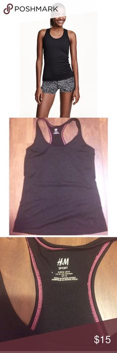✨Racerback Sports Tank✨ ✨Fitted sports top in fast-drying functional fabric with a racer back. NWT✨ H&M Tops Tank Tops