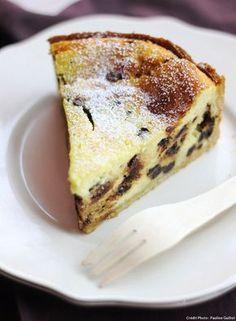 Tarte italienne ricotta & pépites de chocolat - Une délicieuse torta au fromage frais, vanille et chocolat, à déguster pour le goûter...