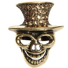 Beatrice Top Hat Skull Ring ($20) ❤ liked on Polyvore