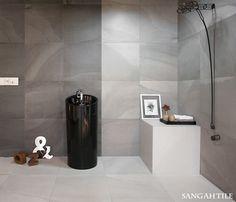 tile-Sangah's -FLUIDO collection /by @arianaceramica  #tile #tiles #Sangahtile #interior #design #interiordesign #floor #wall #natural #modern #타일 #인테리어 #디자인 #상아타일 #욕실 #거실 #수입타일 #바닥타일 #홈인테리어 #인테리어디자인 #시공 #전시장  차분한 그레이컬러가 감도는 내추럴한 욕실로 은은하게 보여지는 패턴은 FLUIDO만의 매력이랍니다~♥