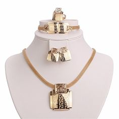 Moochi 18K Gold Plated Africa Style Golden Necklace Jewelry Set Party Dance ** Click on the image for additional details.