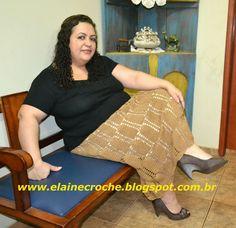 Elaine Croche: Saia Longa em Crochê Elegance - Vídeo Aula Crochê