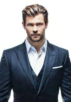 Chris Hemsworth as Tyler. Oh, he rocks the suit!
