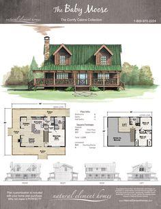 Plan Details – Natural Element Homes Log Cabin Floor Plans, Cabin House Plans, Tiny House Cabin, Dream House Plans, Cabin Homes, Small House Plans, House Floor Plans, Cabins In The Woods, House In The Woods