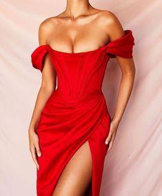 DFLlifes Sexy Off The Shoulder Backless A Line Women Dresses Slash Neck Irregular Split Dress Red Party Midi Vestidos 2020 new Satin Midi Dress, Satin Dresses, Elegant Dresses, Women's Dresses, Beautiful Dresses, Evening Dresses, Bodycon Dress, Formal Dresses, Gowns