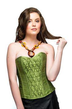 Elegant Green Silk Top Waist Cincher Buy 2 Get 1 by CorsetAttire