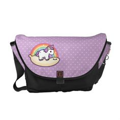 Cute Banana Unicorn Messenger Bag