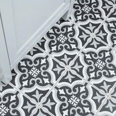 Merola Tile Braga Classic II Encaustic in. Ceramic Floor and Wall Tile sq. / - The Home Depot Laundry Room Tile, Laundry Room Remodel, Room Tiles, Laundry Room Design, Wall Tile, Bath Remodel, Victorian Tiles, Kitchen Flooring, Farmhouse Flooring