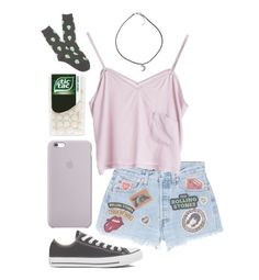 """""""Little hug, big hug by danny donnelly"""" by morganamerica ❤ liked on Polyvore featuring MadeWorn, Stine Goya, Converse, K. Bell, women's clothing, women, female, woman, misses and juniors"""