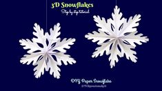 3D Snowflake - Paper snowflake - How to Make 3D Paper Snowflakes for Chr...