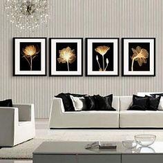 свет и тень цветок декоративная живопись оформлена печать холст набор из 4 – RUB p. 5 210,61