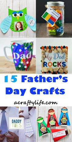 Celebrate father's day with these from Father's Dad Kids Crafts. Give dad a personalized gift with these fun crafts that dad will love.