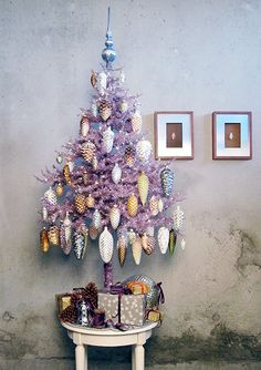 """""""Pine cones are the most beautiful natural ornament you can decorate with in the fall and winter. I bring in cones of all sizes as part of my autumn displays because they transition so easily into the winter and Christmas decorations. Purple Christmas, All Things Christmas, Beautiful Christmas, Vintage Christmas, Christmas Holidays, Christmas Crafts, Royal Christmas, Coastal Christmas, Country Christmas"""