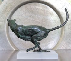 by Jonathan Parkinson titled: 'Hunting Cheetah (Jinking Chasing Bronze statue)'. African Big Cats, African Animals, Animal Statues, Animal Sculptures, Abstract Sculpture, Bronze Sculpture, Italian Sculptors, White Polar Bear, Outdoor Sculpture