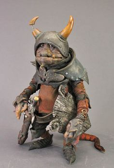 """Roem Baaba by Toby Froud. This goblin appeared briefly in """"Labyrinth."""" So did Toby Froud; he was the baby. His parents designed and built a great many of the critters, with the Henson Creature Shop. Nice to see the talent passed on..."""