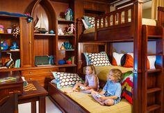 Two bedroom family suites in the Italian Village feature bunk beds for the kiddies. | Beaches Resorts | Turks and Caicos  #BeachesMoms
