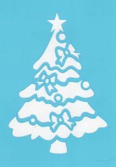Pochoir sapin de Noël pour la décoration de fenêtre avec Window Color                                                                                                                                                                                 Plus