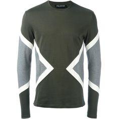 fdd239b0 Neil Barrett geometric panelled T-shirt ($323) ❤ liked on Polyvore  featuring men's