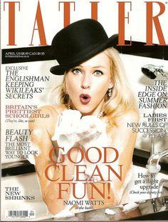 UK Tatler,Naomi Watts,Alireza Pahlavi,Wikileaks,Prettiest Schoolgirls,4/2011~NEW