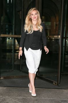 Love the black and white combo on Hilary Duff. Get more Hilary Duff style inspiration on the latest episodes of Younger at http://www.tvland.com/shows/younger.