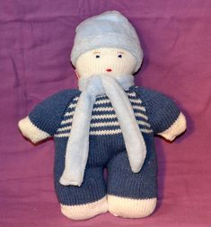 Doudou en tricot Gloves, Winter, Softies, Tricot, Winter Time, Winter Fashion
