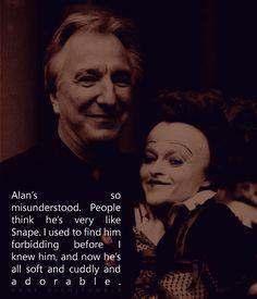 Helena Bonham Carter talking about Alan Rickman